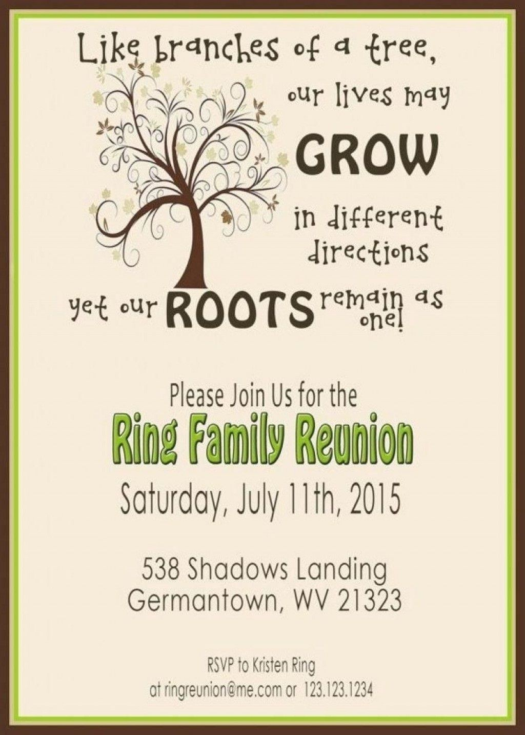 008 Staggering Free Family Reunion Flyer Template Word Concept Large
