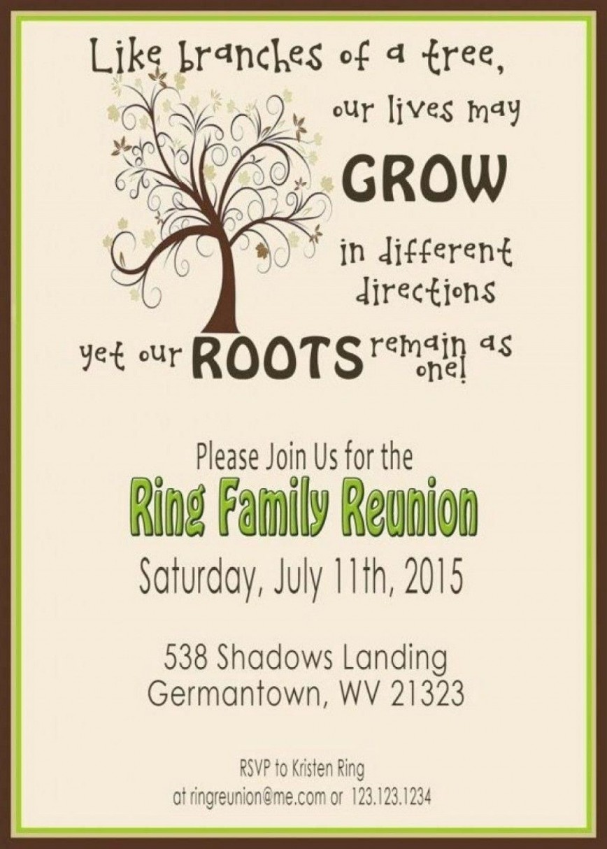 008 Staggering Free Family Reunion Flyer Template Word Concept