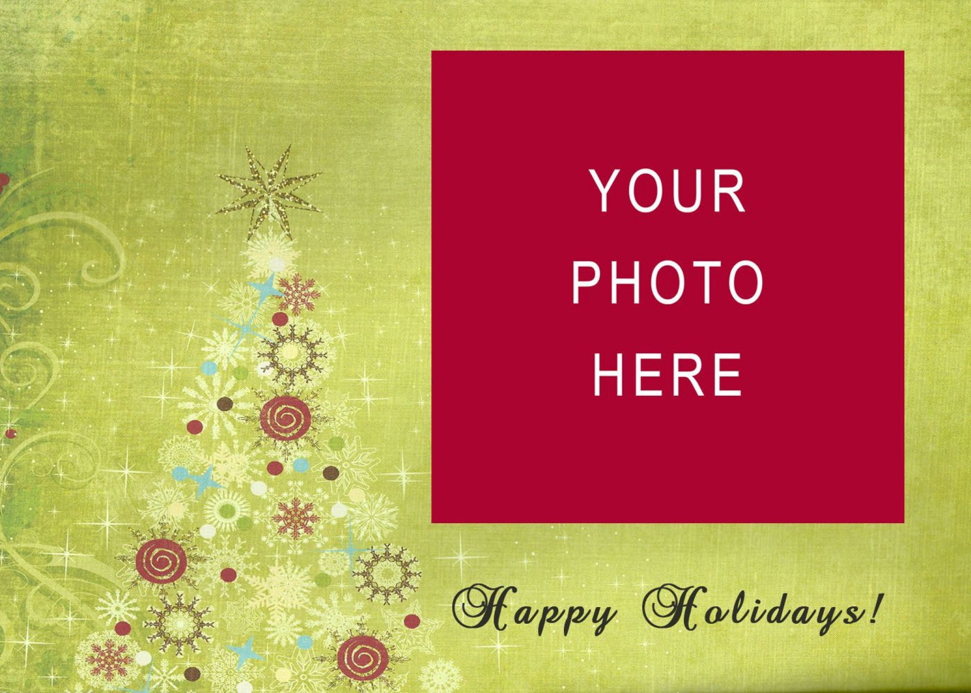 008 Staggering Free Holiday Card Template High Def  Templates Printable Photo For Word1920