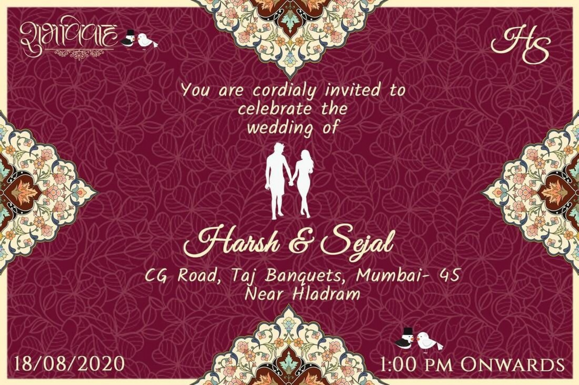 008 Staggering Free Online Indian Wedding Invitation Card Template Picture 1920