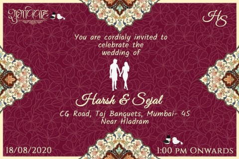 008 Staggering Free Online Indian Wedding Invitation Card Template Picture 480