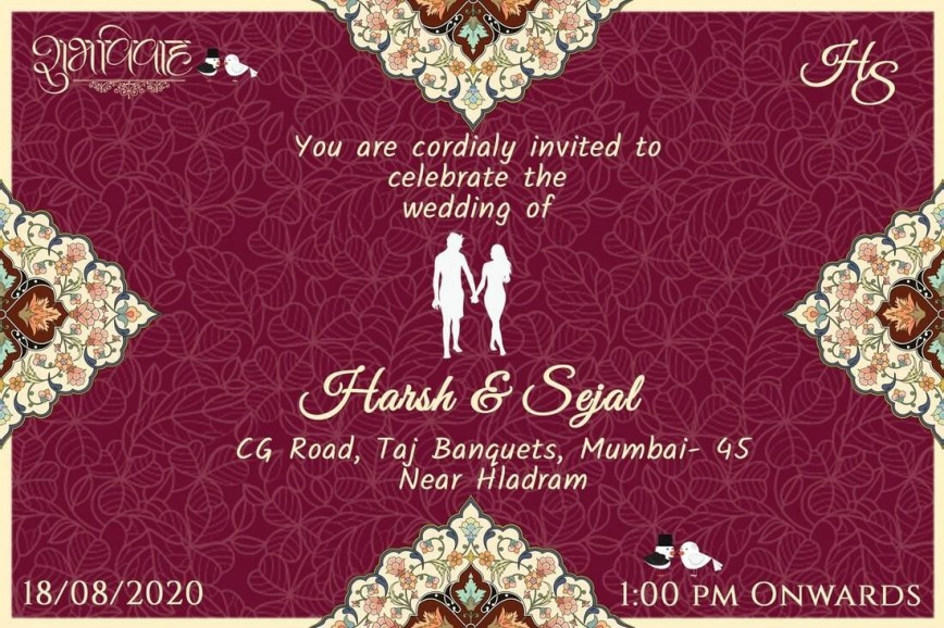 008 Staggering Free Online Indian Wedding Invitation Card Template Picture 868