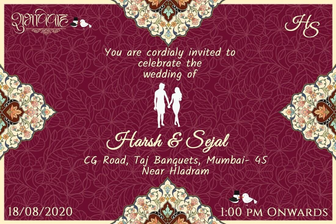 008 Staggering Free Online Indian Wedding Invitation Card Template Picture Full