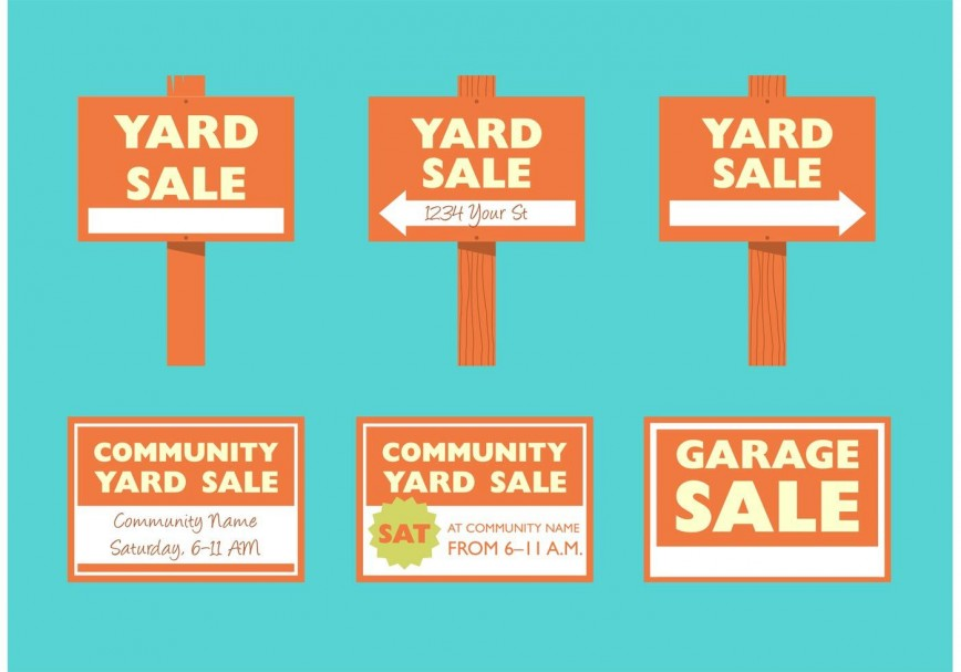 008 Staggering Garage Sale Sign Template Photo  Flyer Microsoft Word Community Yard Free Rummage868
