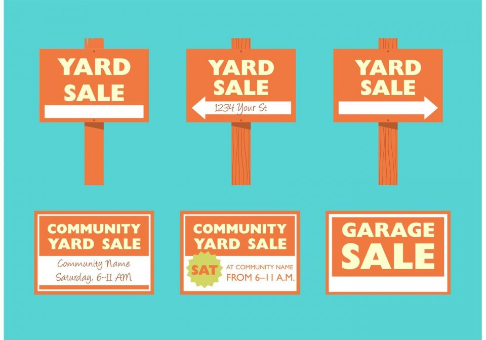 008 Staggering Garage Sale Sign Template Photo  Flyer Microsoft Word Community Yard Free Rummage960