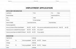 008 Staggering Generic Job Application Template Word Design 320