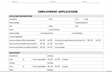 008 Staggering Generic Job Application Template Word Design 360