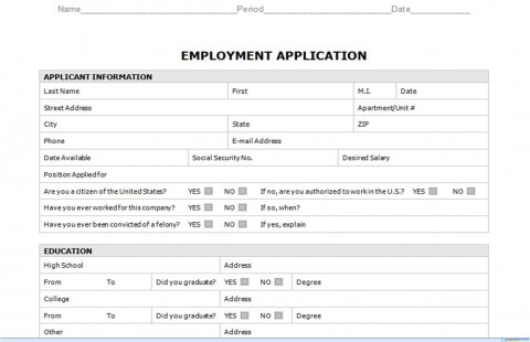 008 Staggering Generic Job Application Template Word Design 480