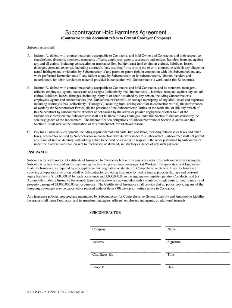 008 Staggering Hold Harmles Agreement Template Design  Canada Word Free DownloadFull
