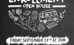 008 Staggering Open House Flyer Template High Definition  Templates Free School Microsoft