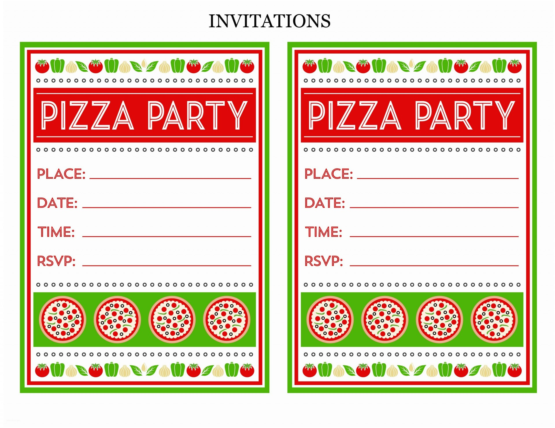 008 Staggering Pizza Party Invitation Template Free Picture  Printable1920