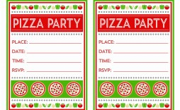008 Staggering Pizza Party Invitation Template Free Picture  Printable