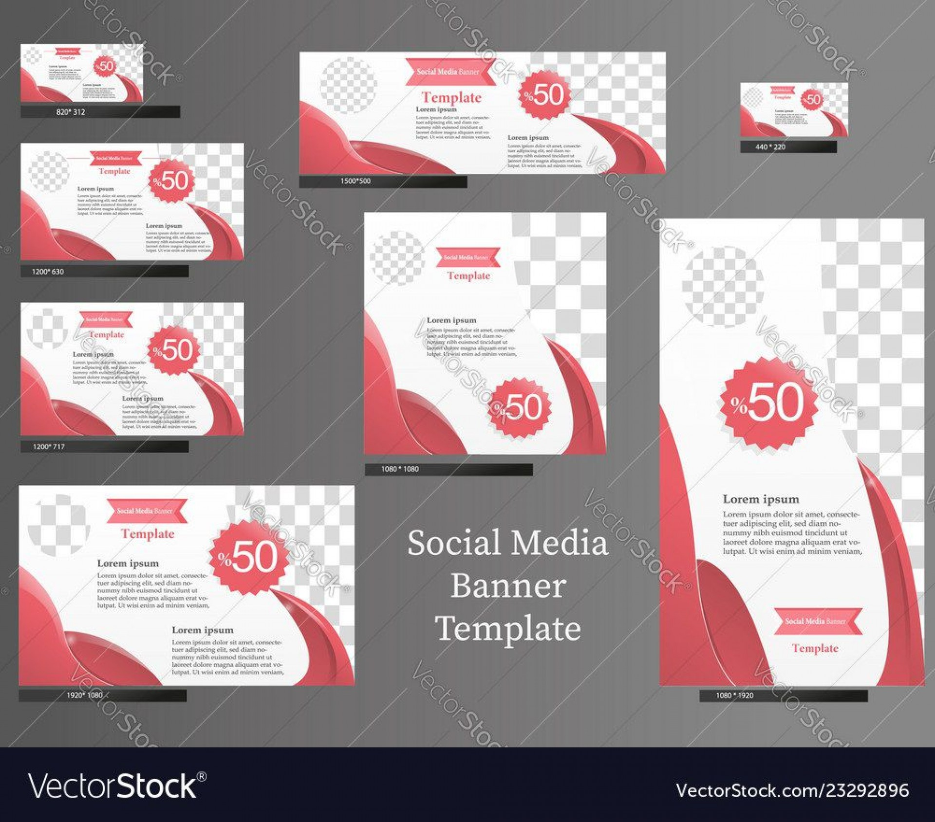008 Staggering Social Media Banner Template Free Picture 1920