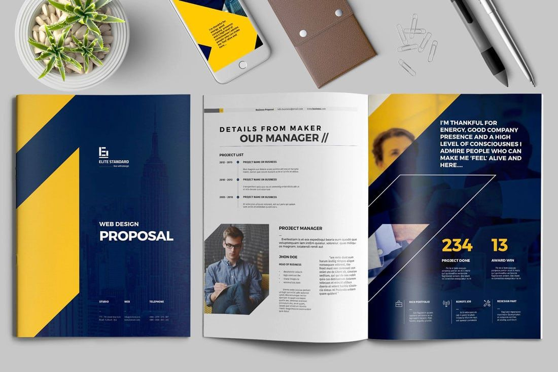 008 Staggering Web Design Proposal Template Image  Designer Writing Word Document SimpleFull