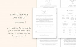008 Staggering Wedding Photographer Contract Template Free Photo  Simple Photography Word