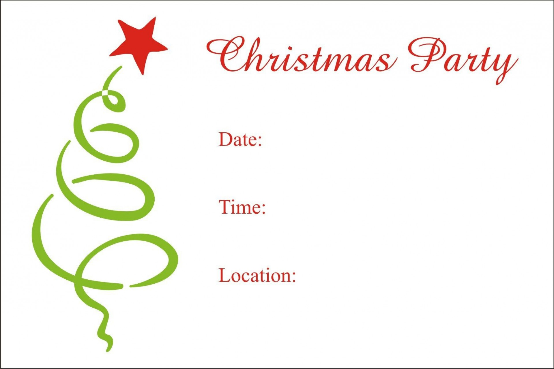 008 Staggering Xma Party Invite Template Free Picture  Holiday Invitation Word Printable Office Christma Download1920
