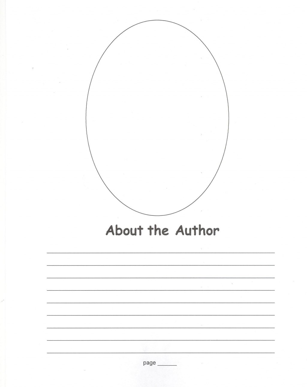 008 Stirring About The Author Template High Definition  Pdf All For StudentLarge