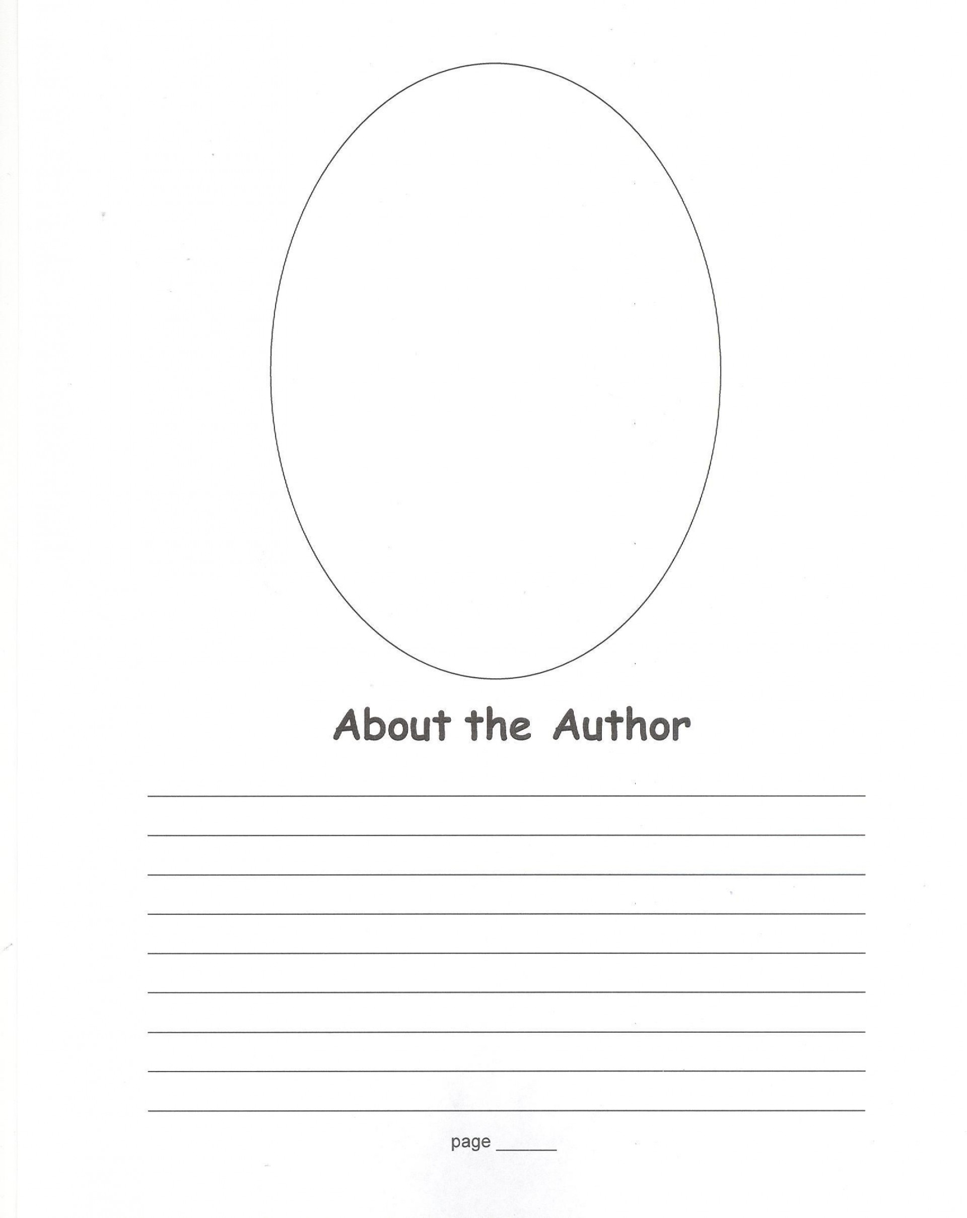 008 Stirring About The Author Template High Definition  Pdf All For Student1920