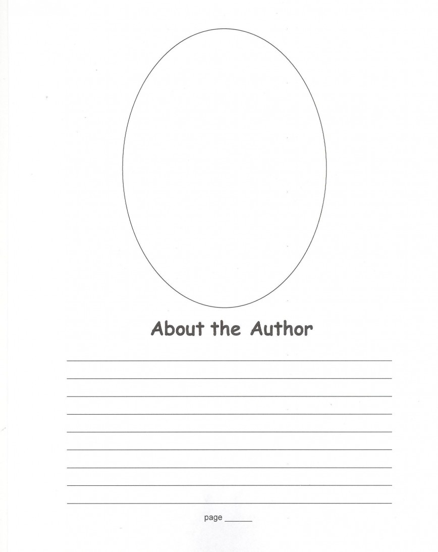 008 Stirring About The Author Template High Definition  Elementary For First Grade Student