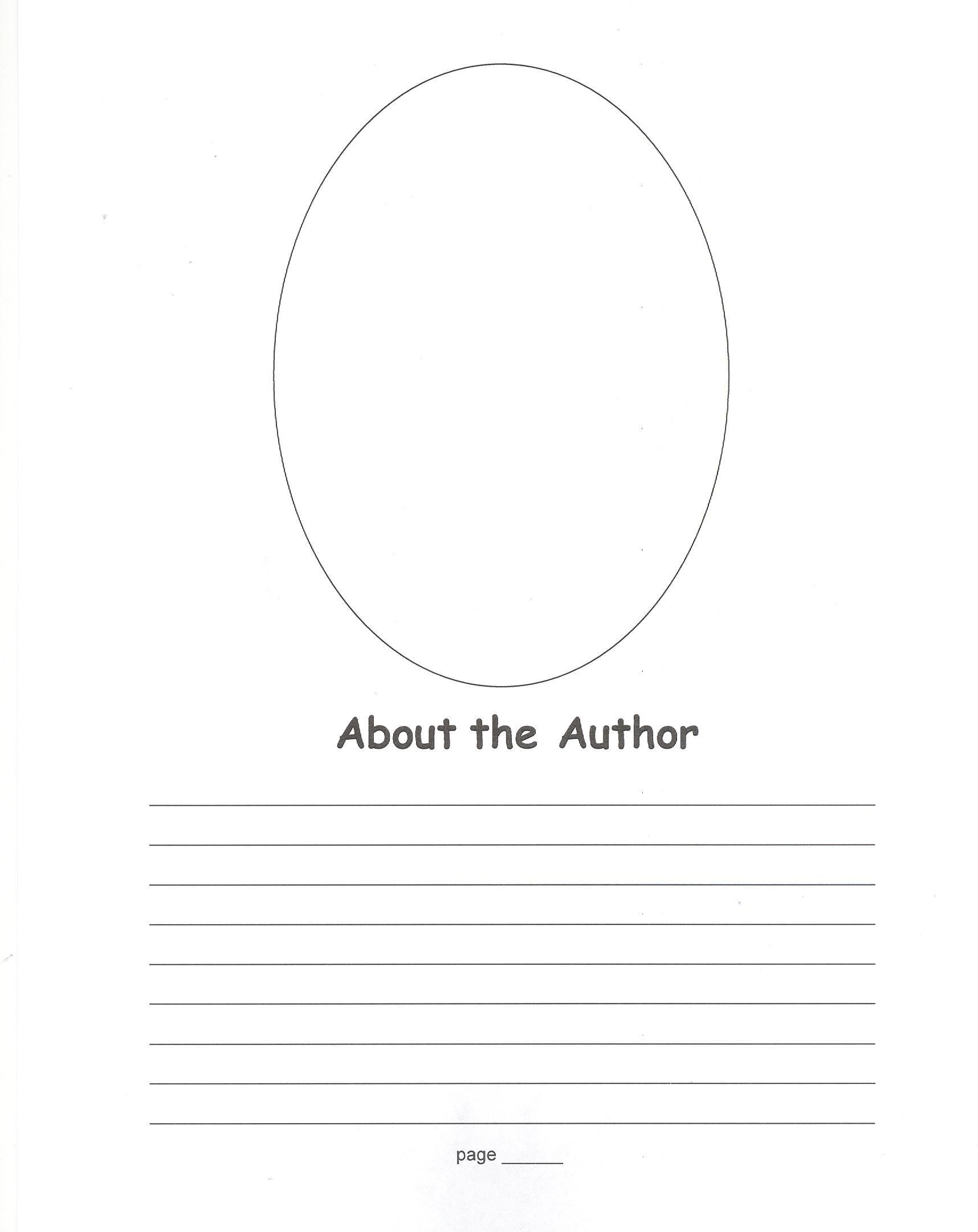 008 Stirring About The Author Template High Definition  Pdf All For StudentFull