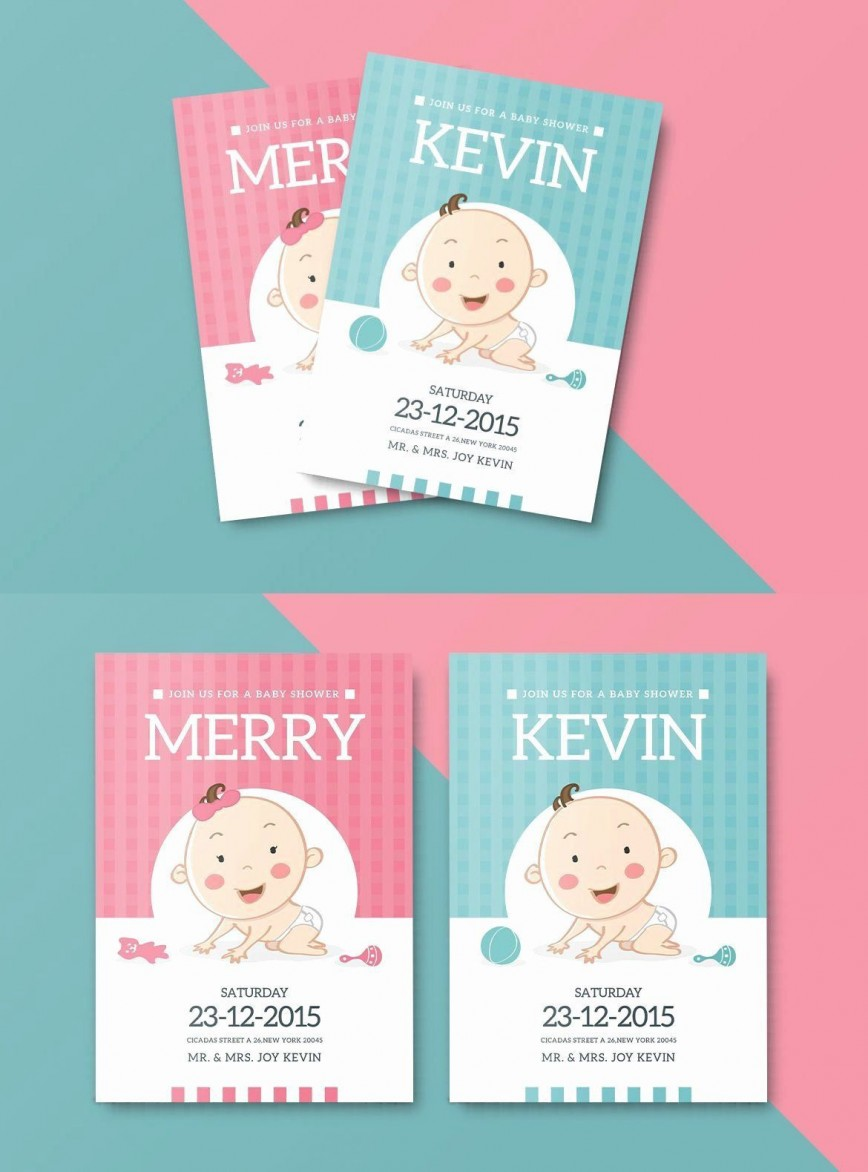008 Stirring Baby Shower Card Template Psd Example