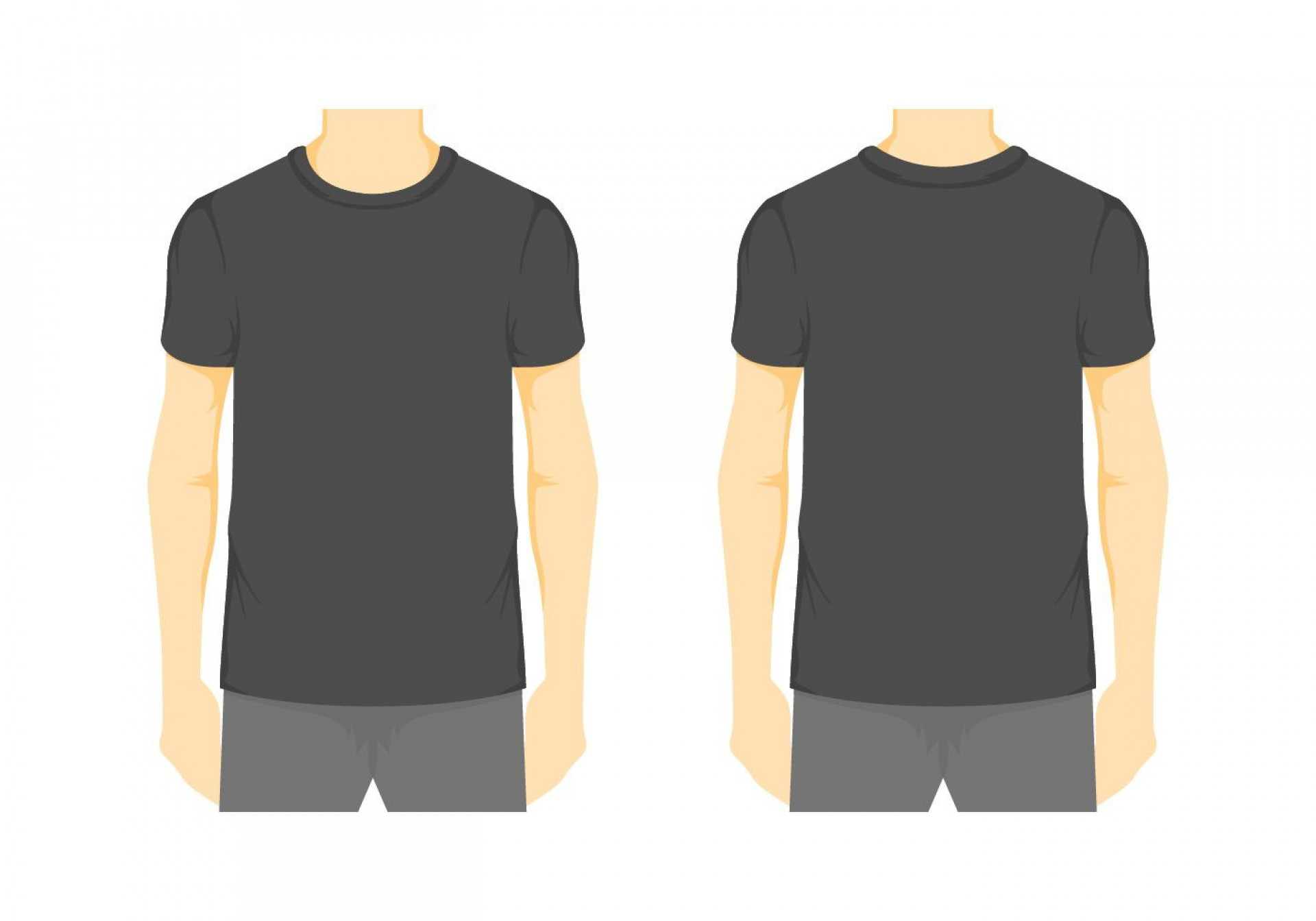 008 Stirring Blank Tee Shirt Template Example  T Design Pdf Free T-shirt Front And Back Download1920