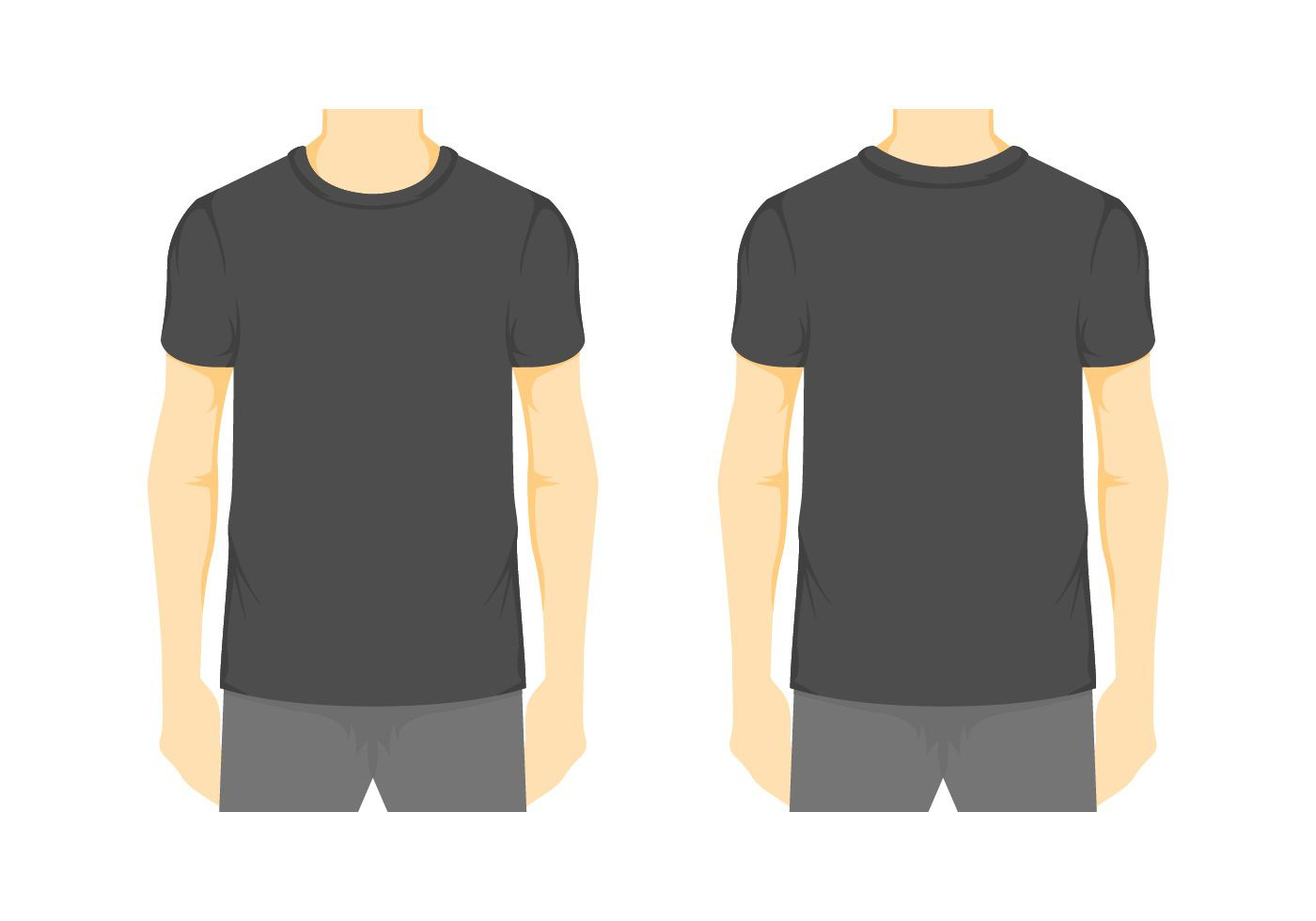 008 Stirring Blank Tee Shirt Template Example  T Design Pdf Free T-shirt Front And Back DownloadFull