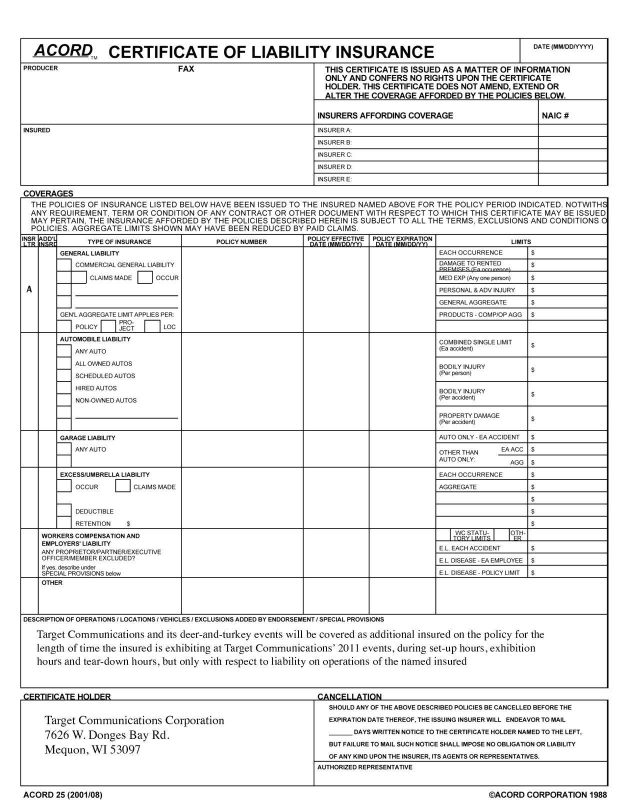 008 Stirring Certificate Of Insurance Template High Def  Sample Pdf Csio Tracking AccesFull