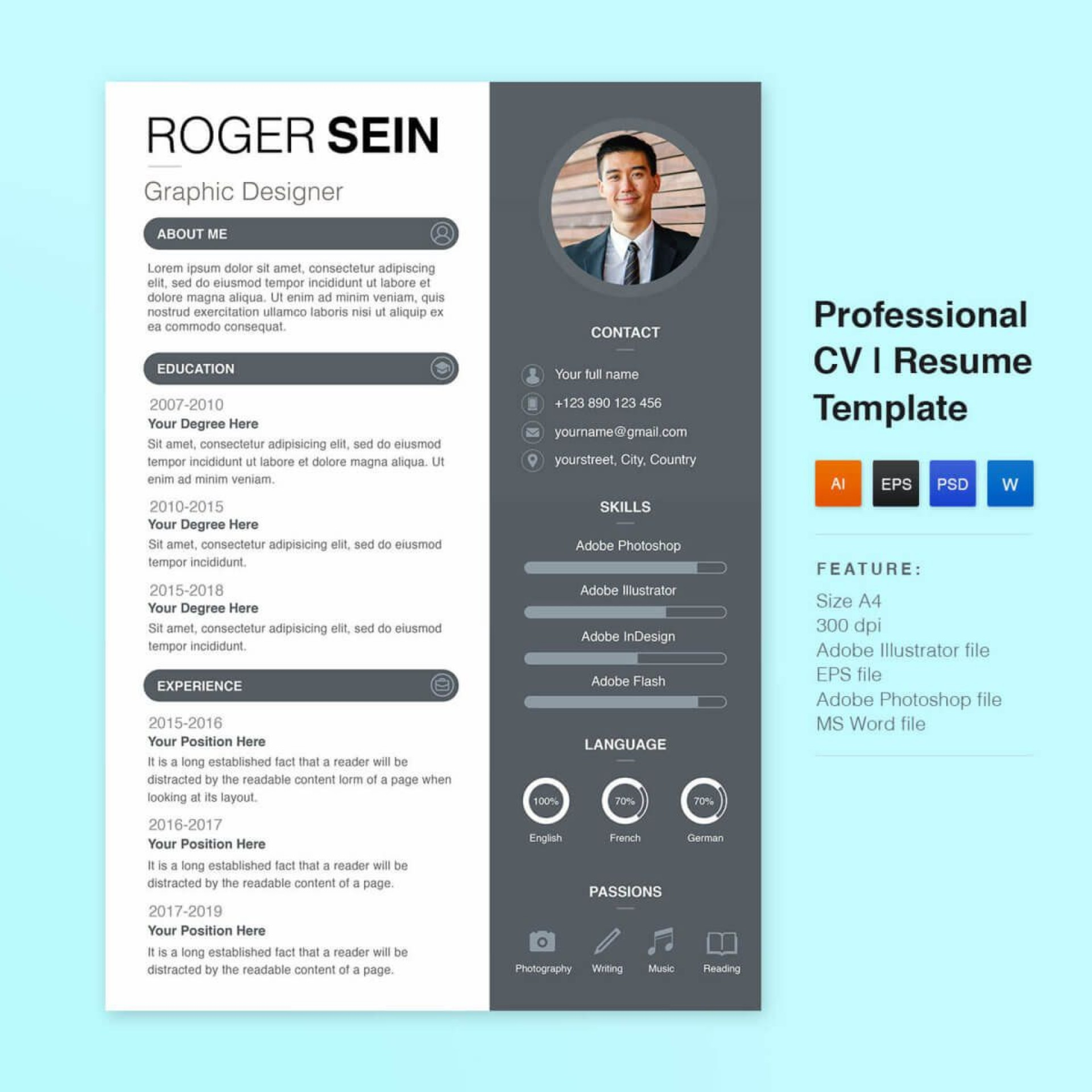 008 Stirring Download Free Resume Template Picture  Word Professional 2019 20201920