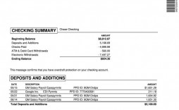 008 Stirring Fake Chase Bank Statement Template High Def  Free Create