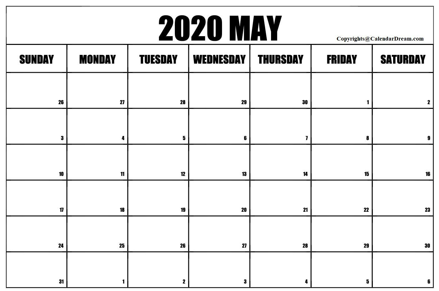 008 Stirring Free 2020 Calendar Template High Definition  Templates Monthly Excel Download Printable MayFull