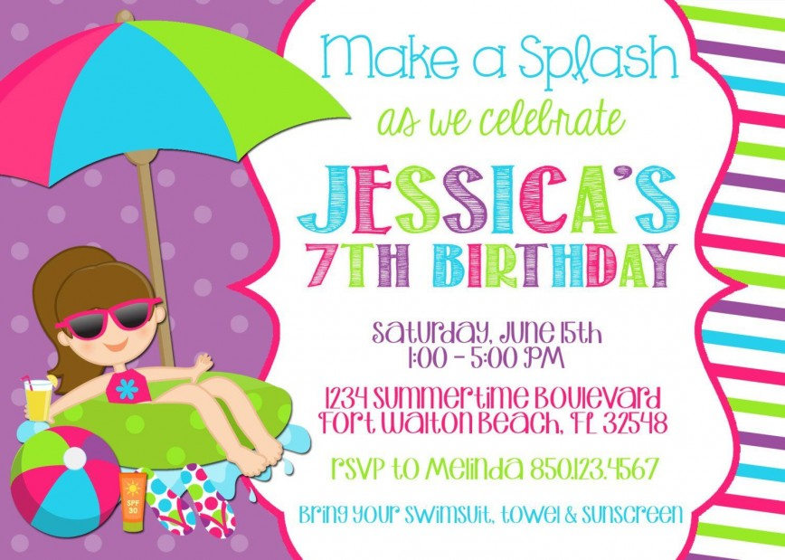 008 Stirring Free Birthday Party Invitation Template For Word Highest Quality 868