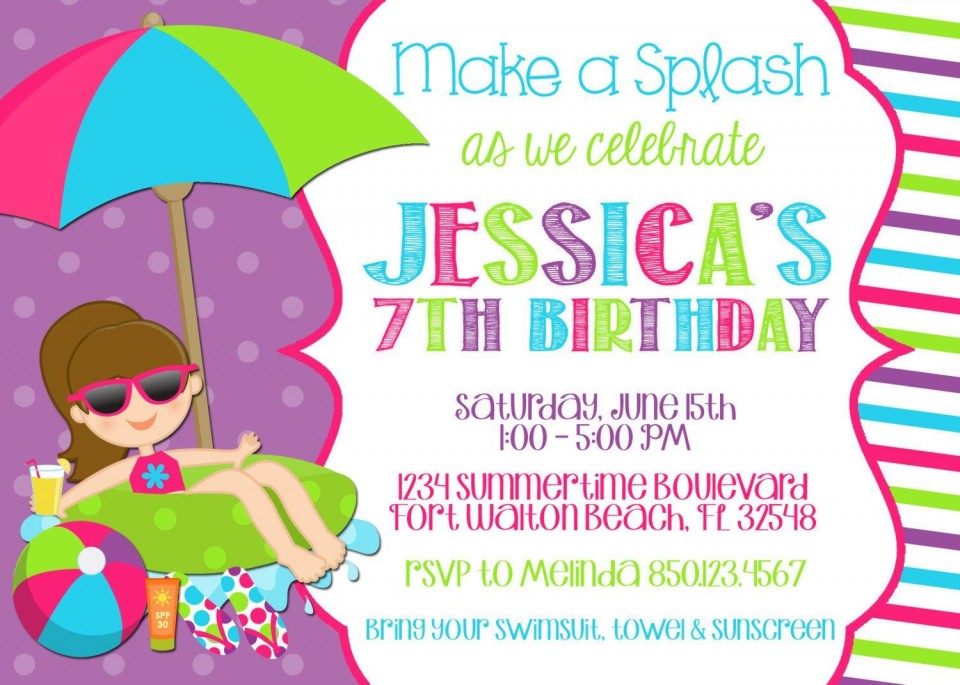008 Stirring Free Birthday Party Invitation Template For Word Highest Quality 960