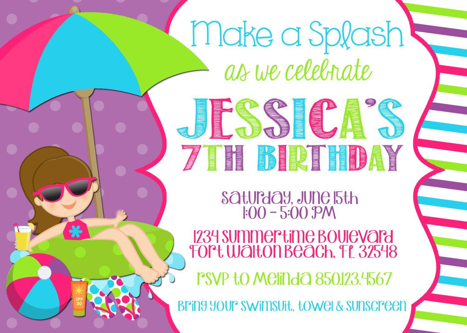 008 Stirring Free Birthday Party Invitation Template For Word Highest Quality Full