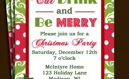 008 Stirring Free Christma Invitation Template Word High Definition  Holiday Party Editable