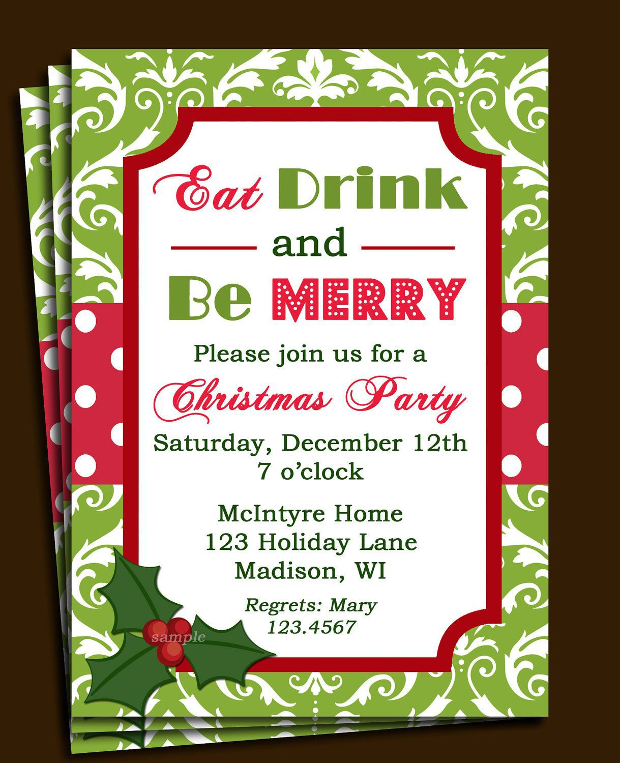 008 Stirring Free Christma Invitation Template Word High Definition  Holiday Party EditableFull