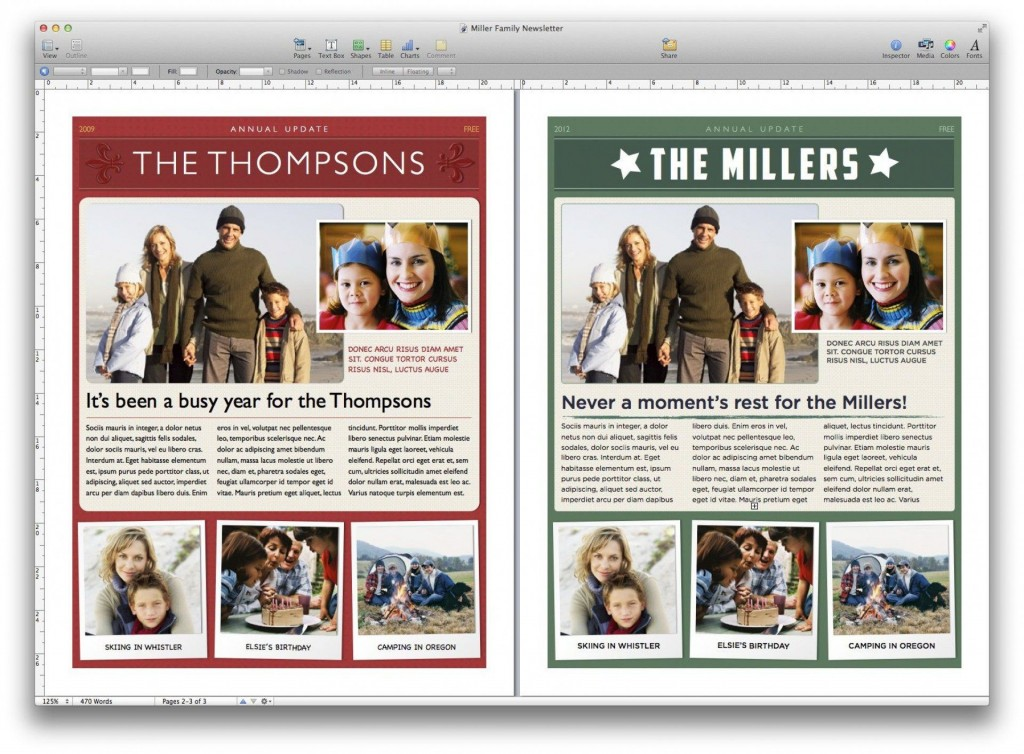 008 Stirring Free Christma Newsletter Template Microsoft Word Concept Large