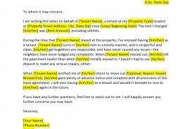 008 Stirring Free Reference Letter Template For Landlord Example  Rental