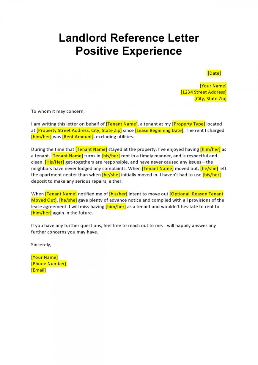 008 Stirring Free Reference Letter Template For Landlord Example  Rental868