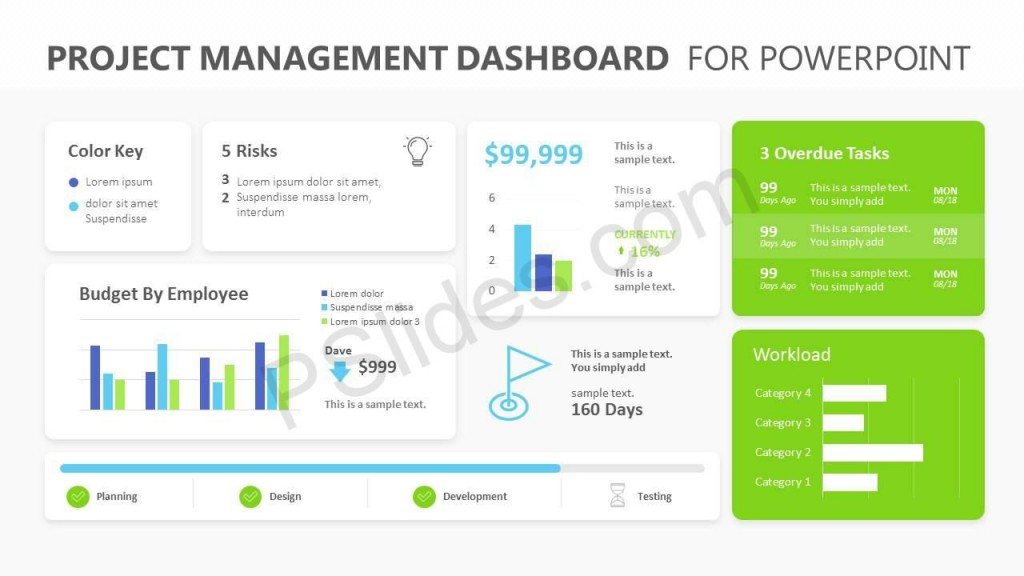 008 Stirring Project Management Dashboard Powerpoint Template Free Download High Definition Large