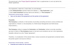 008 Stirring Subcontractor Agreement Template Free Concept  Construction Word