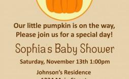 008 Striking Baby Shower Invitation Girl Pumpkin Image  Pink Little