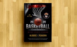 008 Striking Basketball Tournament Flyer Template Concept  Word Free