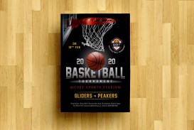 008 Striking Basketball Tournament Flyer Template Concept  3 On Free