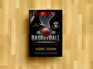 008 Striking Basketball Tournament Flyer Template Concept  3 On Free360