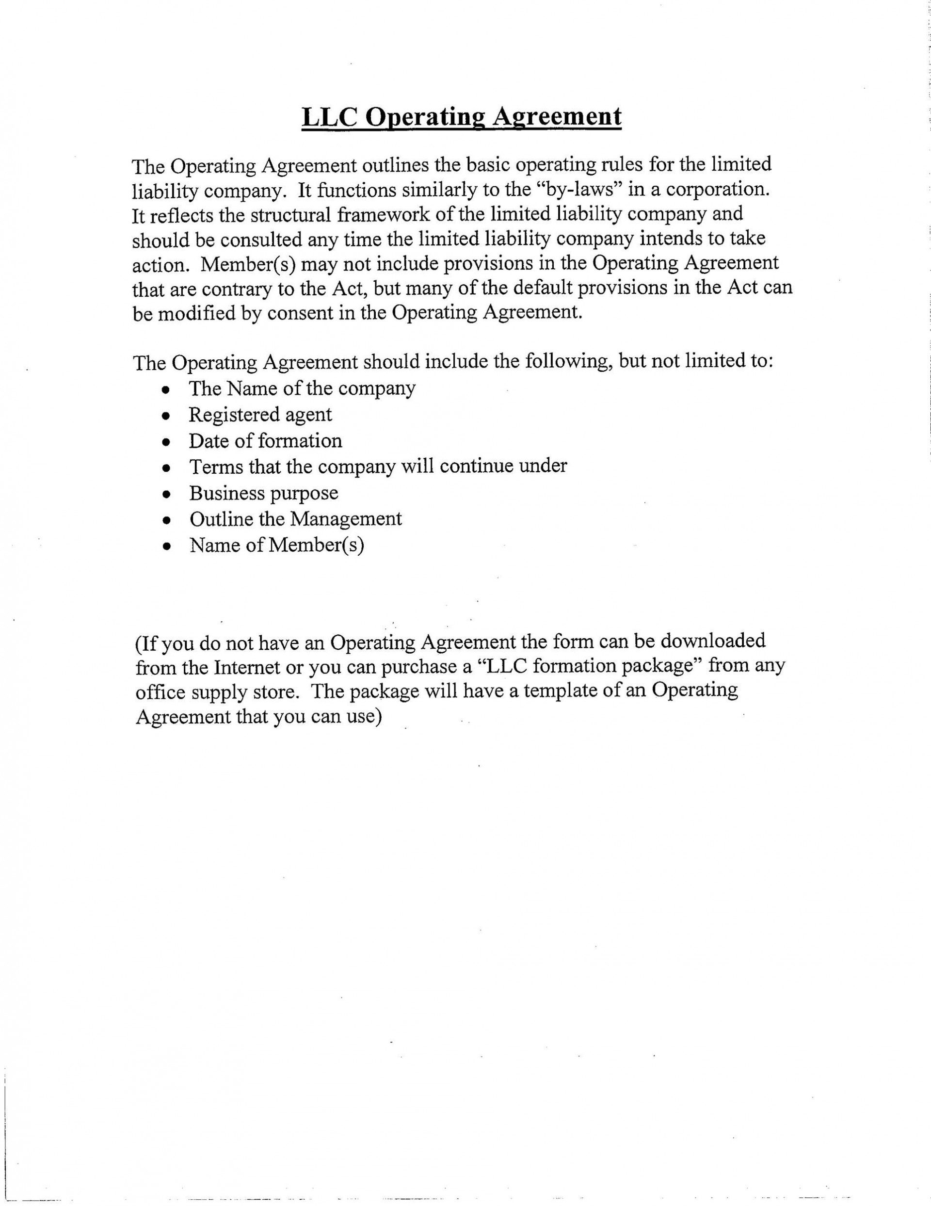008 Striking Buy Sell Agreement Llc Template Free Picture 1920