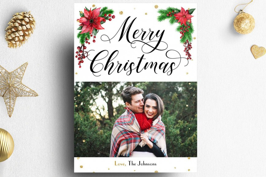 008 Striking Christma Card Template Photoshop Highest Quality  Free Download Gift Photo