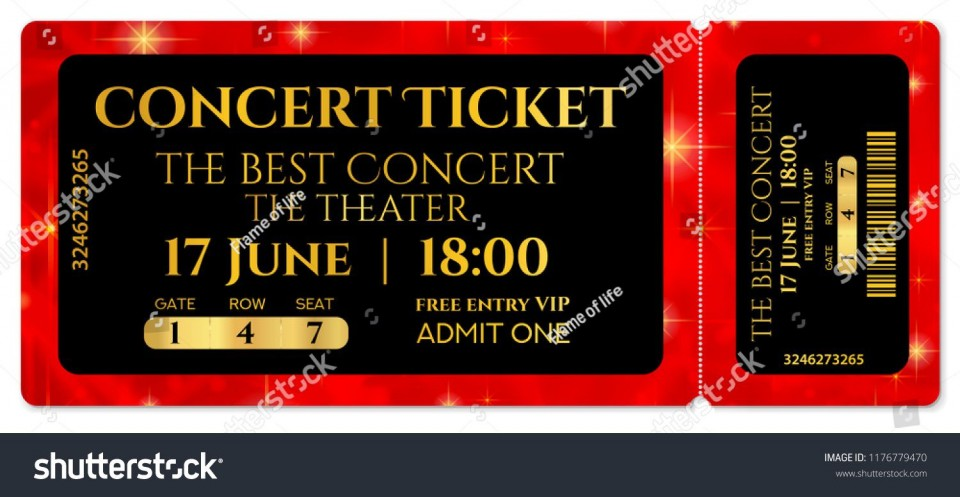 008 Striking Editable Ticket Template Free High Def  Concert Word Irctc Format Download Movie960