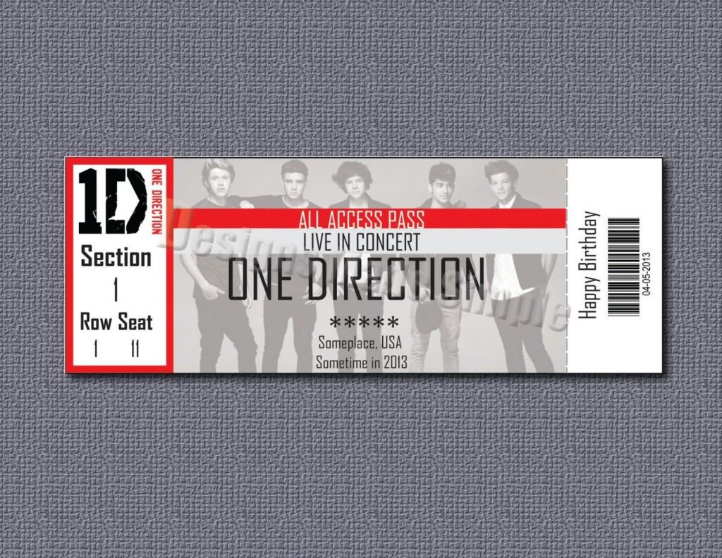 008 Striking Free Fake Concert Ticket Template High Def Large