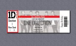 008 Striking Free Fake Concert Ticket Template High Def